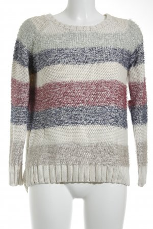 yfl RESERVED Strickpullover Streifenmuster Casual-Look