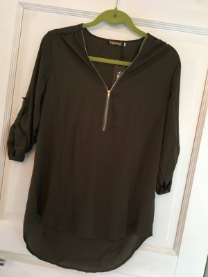 Slip-over Blouse khaki-green grey