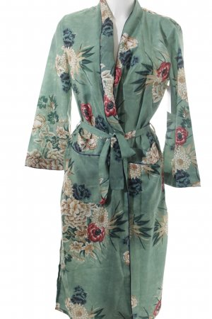 YMHY Kimono florales Muster Lingerie-Look