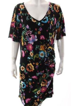 Yoek Kleid schwarz florales Muster Casual-Look