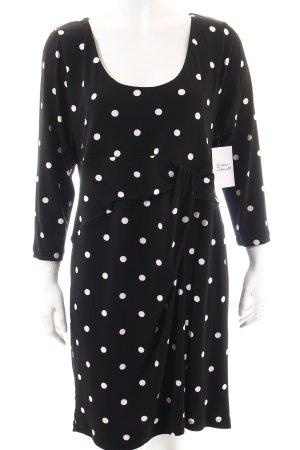 Yoek Kleid schwarz-weiß Punktemuster