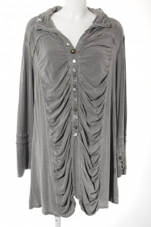 Yoek Langarm-Bluse grau klassischer Stil