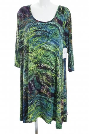 Yoek Langarmkleid abstraktes Muster extravaganter Stil