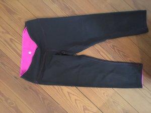 Lulu Lemon Leggings black-neon pink