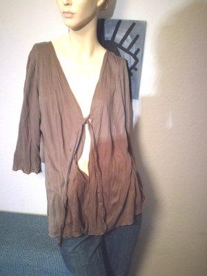 Olsen Veste chemise gris brun