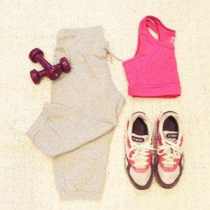 Yoga Pants | Hellgraue 3/4-Sporthose