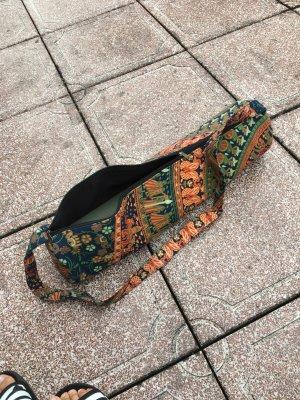 Yoga Tasche mattentasche sporttasche Hippie Sport bunt Muster orange Elefanten Träger auffällig yogamattentasche bunt