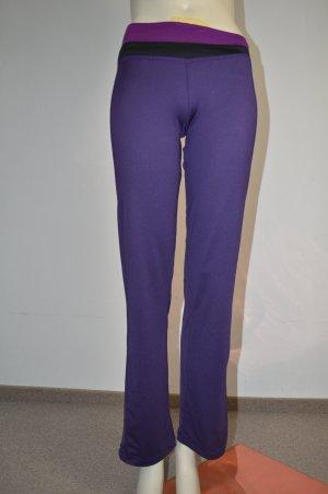 Yogahose Sporthose in Lila, Gr. 34