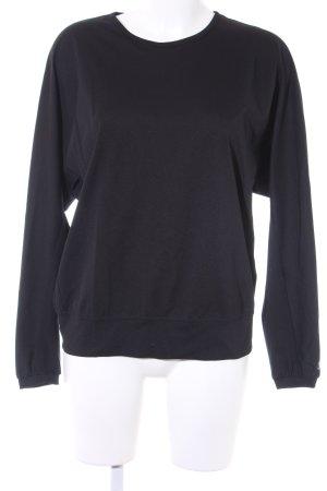 Yohji Yamamoto Langarm-Bluse schwarz Streifenmuster Casual-Look