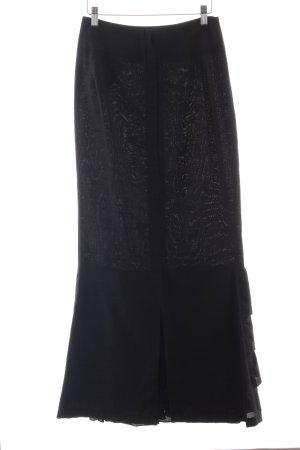 Yohji Yamamoto Falda con volantes negro elegante