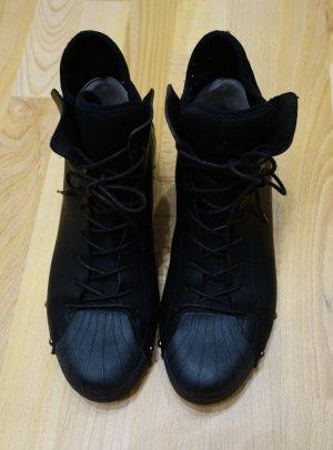 Yohji Yamamoto Botte noir cuir