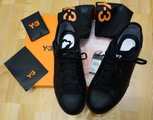 Yohji Yamamoto Y-3 Adidas Smooth Court all black Sneaker Turnschuhe Gr. 40 (UK 6,5)