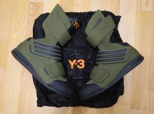 Yohji Yamamoto Botte vert foncé-noir