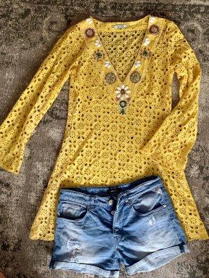 Tunique-blouse jaune