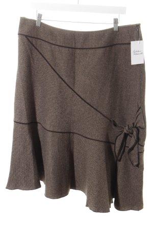 Yorn Falda de tubo marrón oscuro look casual