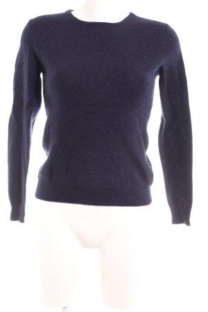 Yorn Cashmerepullover dunkelblau Elegant