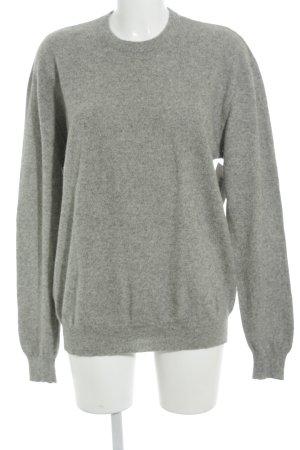 Yorn Pullover in cashmere grigio-grigio chiaro puntinato stile casual