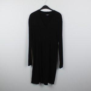 YORN Kleid Strickkleid Gr. 42 schwarz Langärmlig (18/10/260/E)