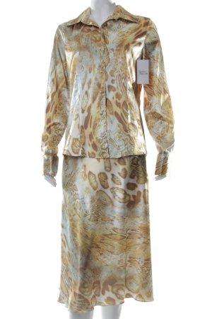 Yorn Kostüm goldfarben-türkis Animalmuster extravaganter Stil