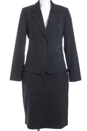 Yorn Kostüm schwarz Nadelstreifen Business-Look