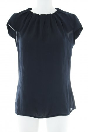 Yorn Kurzarm-Bluse dunkelblau Casual-Look