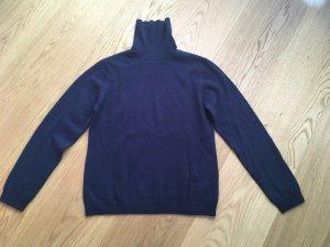 Yorn Jersey de cuello alto azul oscuro