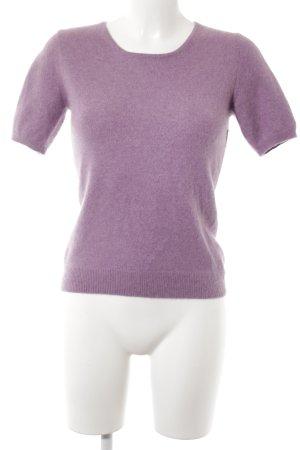 Yorn Strickshirt blauviolett Casual-Look