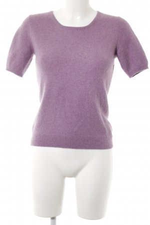 Yorn Camisa tejida violeta azulado look casual