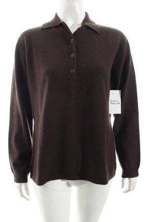 Yorn Strickshirt dunkelbraun schlichter Stil