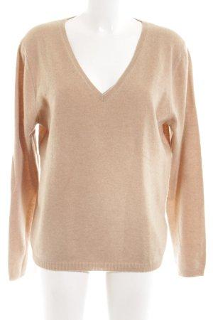 Yorn Wool Sweater nude casual look
