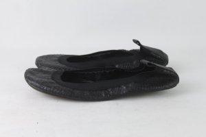 Yosi samra Ballerines pliables noir cuir