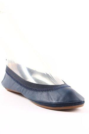 Yosi samra faltbare Ballerinas dunkelblau schlichter Stil