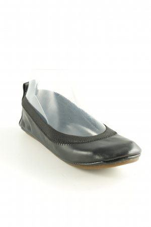 Yosi samra faltbare Ballerinas schwarz schlichter Stil