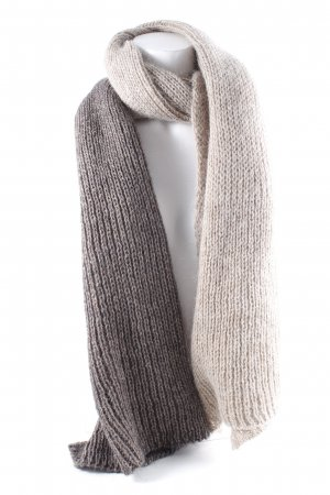 You&Me Fashion Gebreide sjaal taupe-beige kleurverloop pluizig