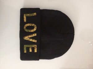 You & Me Mütze/ Beanie schwarz One Size LOVE