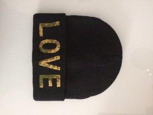 You & Me Mütze/ Beanie schwarz One Size LOVE