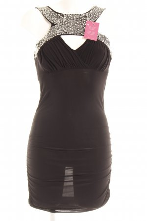 Young Blood Stretch Dress black-silver-colored glittery