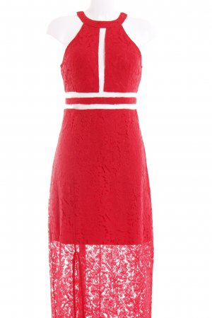 Young Couture Abendkleid rot Blumenmuster Elegant