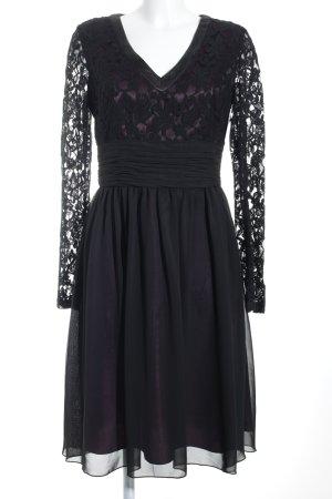 Young Couture by Barbara Schwarzer Abendkleid schwarz-dunkelviolett Elegant
