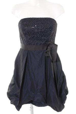 Young Couture by Barbara Schwarzer Robe bandeau noir-bleu foncé élégant