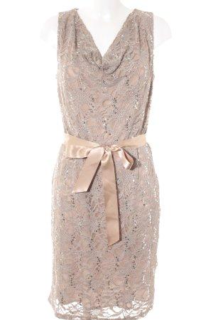 Young Couture by Barbara Schwarzer Midi-jurk beige bloemenprint elegant