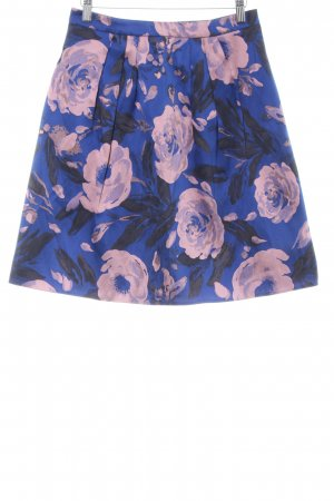 Young Couture Flared Skirt blue-pink flower pattern casual look