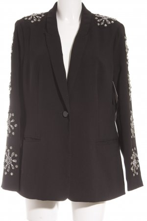 Young Couture Long-Blazer schwarz Glitzer-Optik