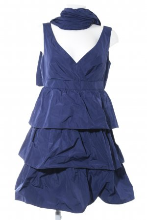 Young Couture Flounce Dress dark blue elegant