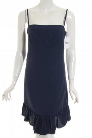 Young Mayfair Pinafore dress dark blue-white '60s style