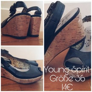 Young Spirit Peeptoes schwarz