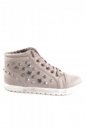 Young Spirit Lace Shoes light grey wet-look