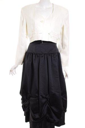 Young Woo Kostüm schwarz-creme Mustermix extravaganter Stil