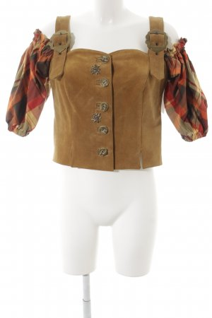 Your 6th Sense Folkloristische blouse geruite print country stijl