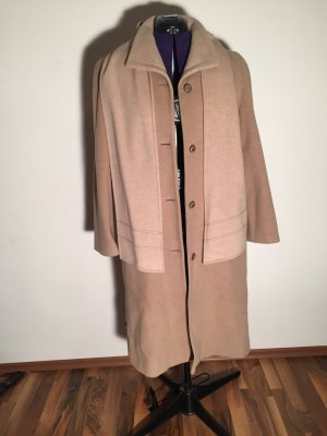 Your 6th Sense Wollmantel mit Schal camel Elegant-Look